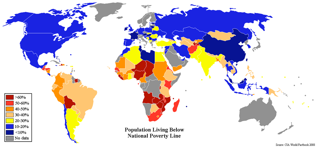 The standard of living in libya compilation of data studies percentpovertyworldmap gumiabroncs Gallery
